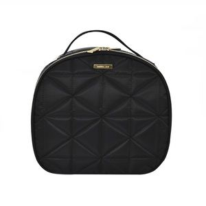 NWT Models by Coniar Quilted Black Train Case